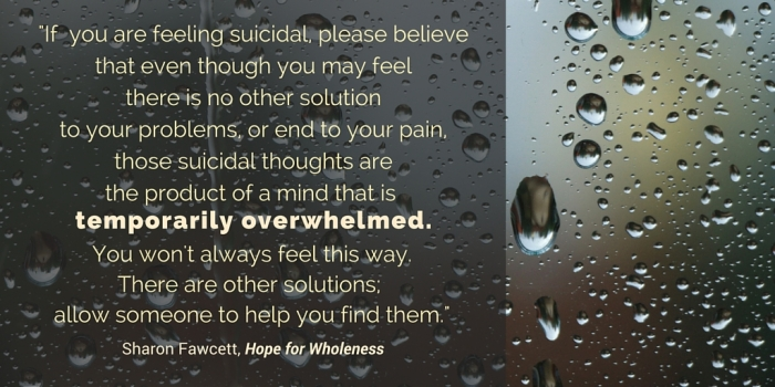 Hope for Wholeness quote on suicide 1